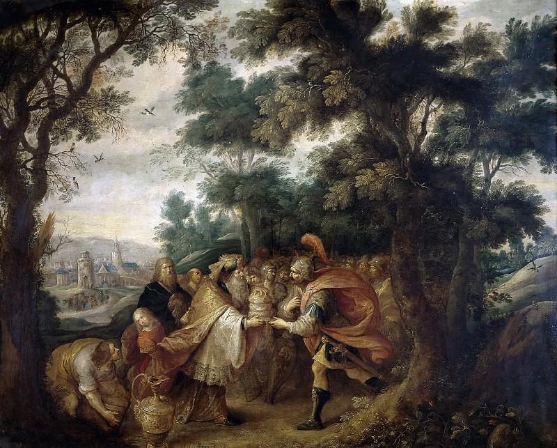 Francken, Frans II -- Abraham y Melquisedec. Part 5 Prado Museum