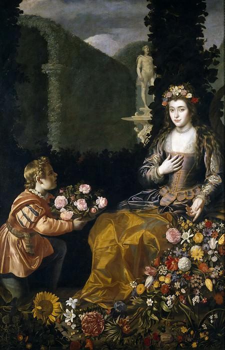 Hamen y León, Juan van der -- Ofrenda a Flora. Part 5 Prado Museum