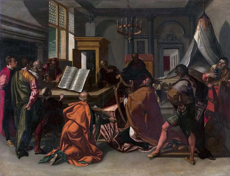 Anónimo -- Escena bíblica: el rey David. Part 5 Prado Museum