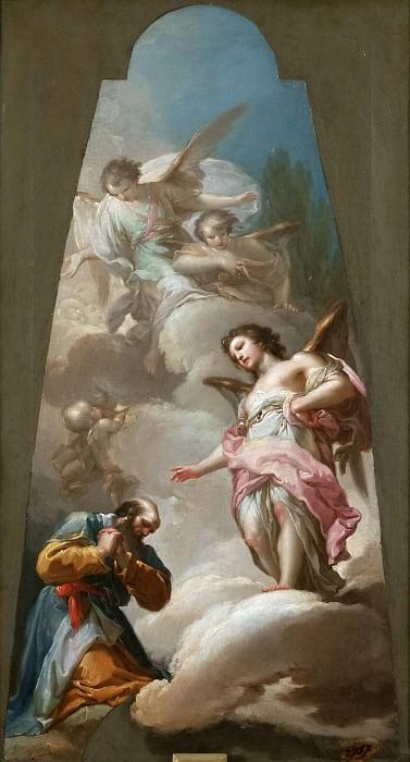 Bayeu y Subías, Francisco -- Abraham y los tres ángeles. Part 5 Prado Museum
