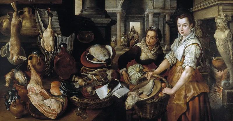 Beuckelaer, Joachim -- Cristo en casa de Marta y María. Part 5 Prado Museum