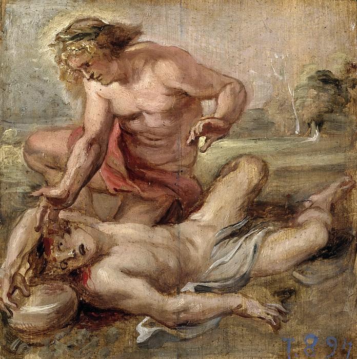 Rubens, Pedro Pablo -- La muerte de Jacinto. Part 5 Prado Museum