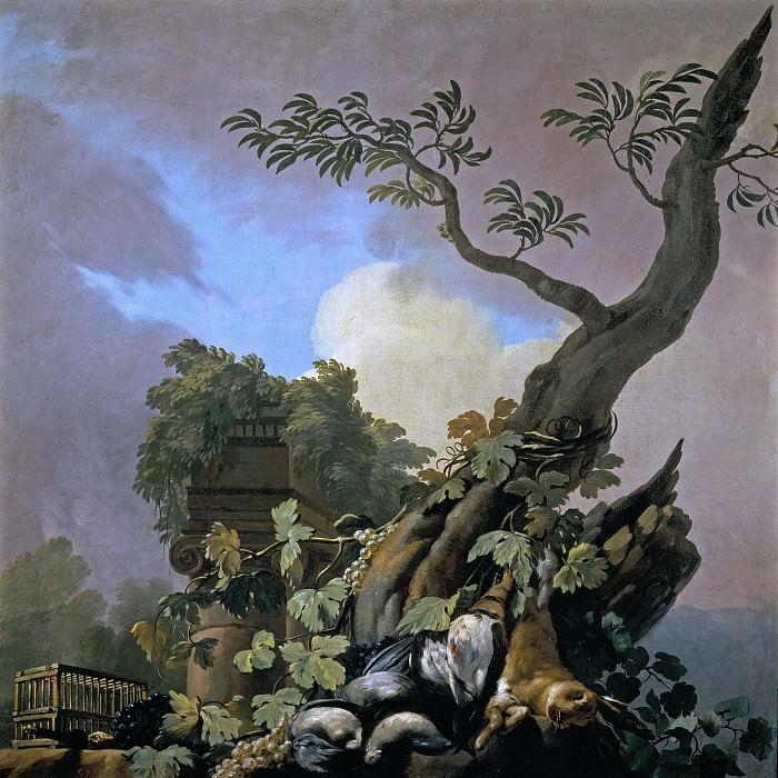 Castillo, José del -- Bodegón de caza: aves y liebre. Part 5 Prado Museum