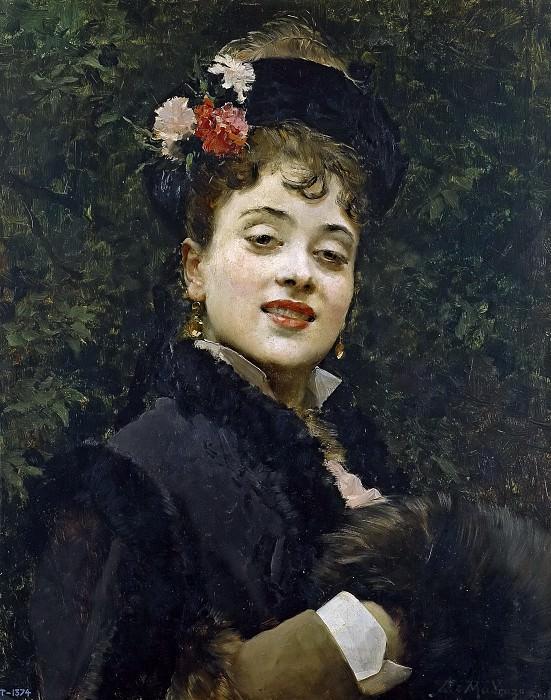 Мадрасо и Гаррета, Раймундо де (1841-1920) -- Модель Алина Массон. часть 5 Музей Прадо