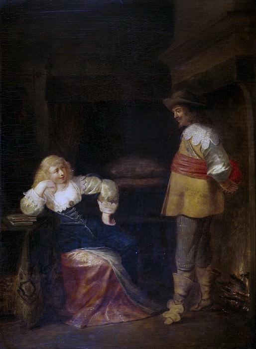 Ламен, Кристофель Якобс ван дер -- Солдат и дама. часть 5 Музей Прадо