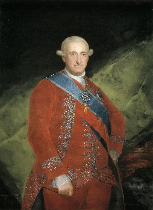 Goya y Lucientes, Francisco de -- El rey Carlos IV, de rojo. Part 5 Prado Museum