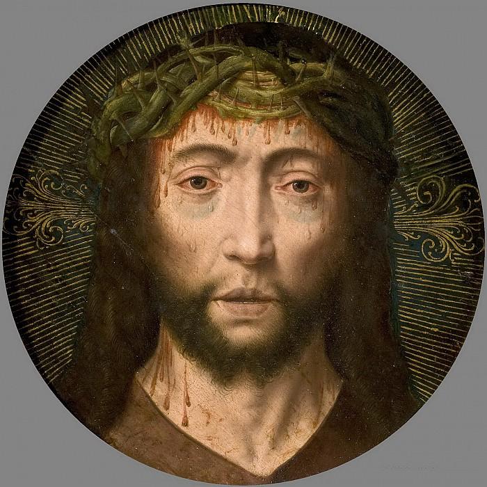 Bouts, Albert (Atribuido a) -- Cabeza de Cristo. Part 5 Prado Museum