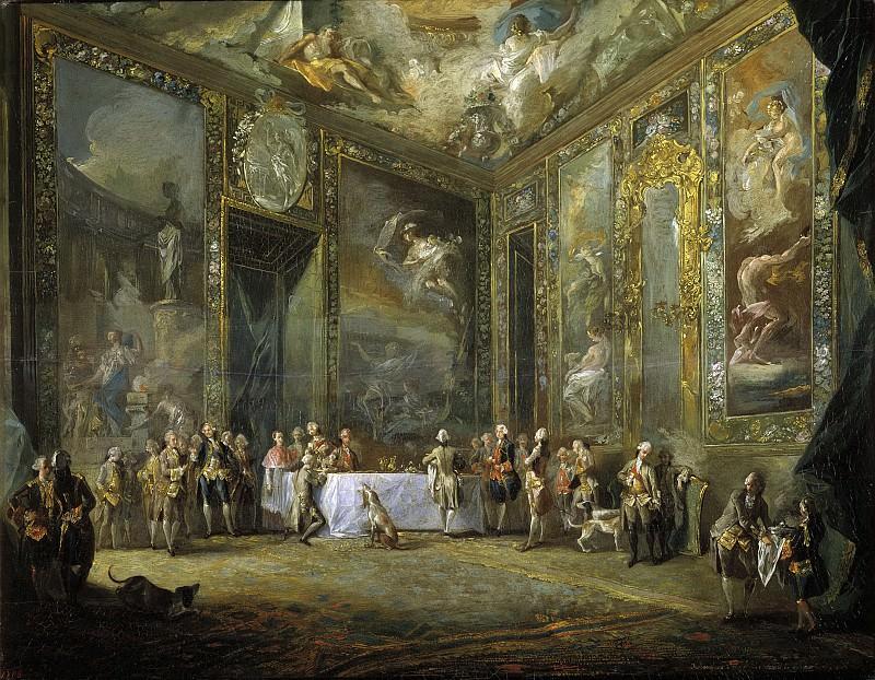 Paret y Alcázar, Luis -- Carlos III, comiendo ante su corte. Part 5 Prado Museum
