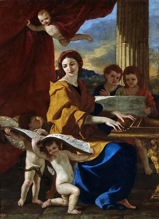 Poussin, Nicolas -- Santa Cecilia. Part 5 Prado Museum
