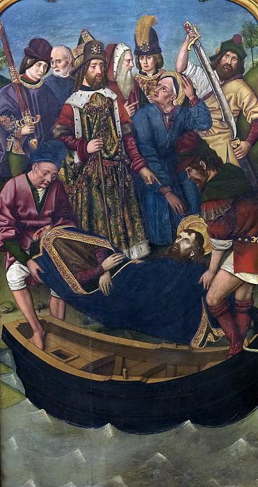 Bernat, Martín -- Traslado del cuerpo de Santiago el Mayor ante el palacio de la reina Lupa. Part 5 Prado Museum
