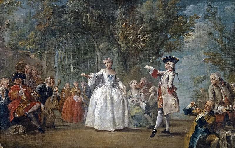 Flipart, Charles Joseph -- Fiesta en un jardín. Part 5 Prado Museum
