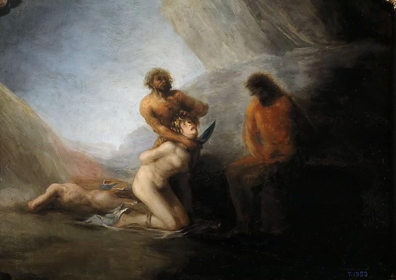 Anónimo (Seguidor de Goya y Lucientes, Francisco de) -- La degollación. Part 5 Prado Museum