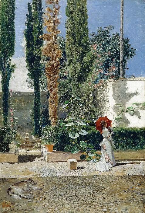 Мариано Фортуни и Марсаль; Раймундо де Мадрасо и Гаррета -- Сад в доме Фортуни Марсаль. часть 5 Музей Прадо