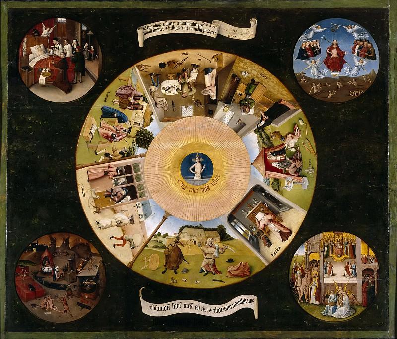 El Bosco -- Mesa de los pecados capitales. Part 5 Prado Museum
