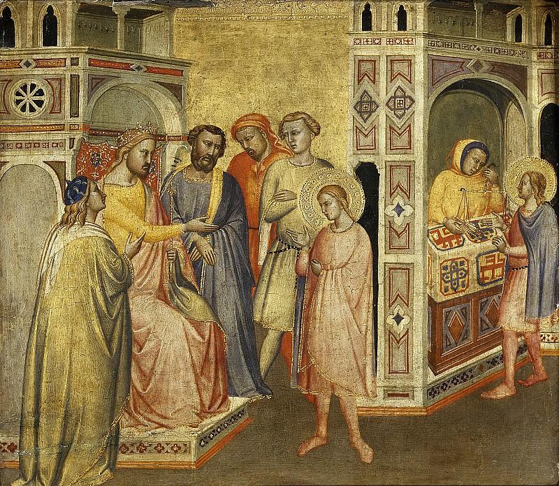 Maestro de la Madonna della Misericordia -- San Eloy ante el rey Clotario. Part 5 Prado Museum