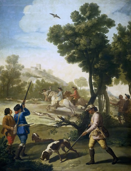 Гойя и Лусиентес, Франсиско де -- Охота. часть 5 Музей Прадо
