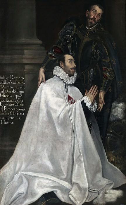 El Greco (Seguidor de) -- Julián Romero y su santo patrono. Part 5 Prado Museum