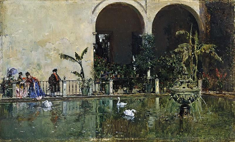 Madrazo y Garreta, Raimundo de -- Estanque en los jardines del Alcázar de Sevilla. Part 5 Prado Museum