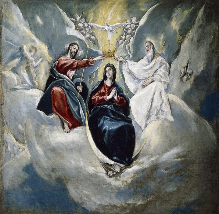 Эль Греко (и мастерская) -- Коронование Девы Марии. часть 5 Музей Прадо