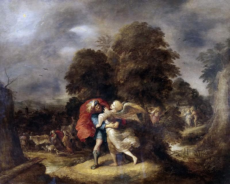 Francken, Frans II -- Lucha de Jacob con el ángel. Part 5 Prado Museum