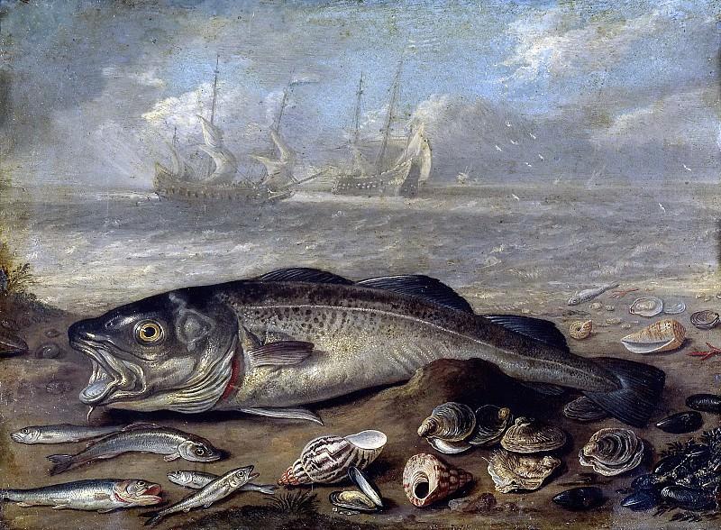 Kessel el Viejo, Jan van -- Pescados y marina. Part 5 Prado Museum