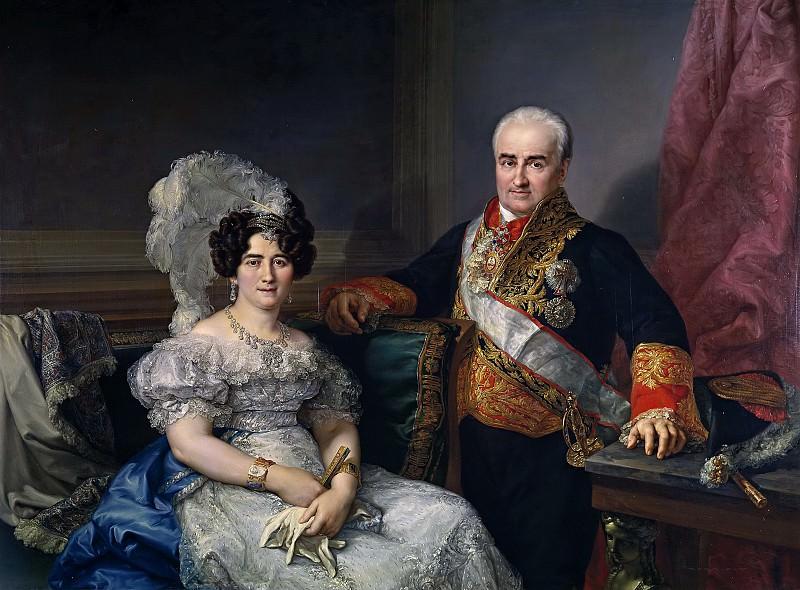 Лопес и Портана, Висенте -- Антонио Угарте и его жена, Мария Антония Ларрасабаль. часть 5 Музей Прадо