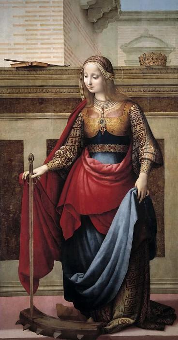 Yáñez de la Almedina, Fernando -- Santa Catalina. Part 5 Prado Museum