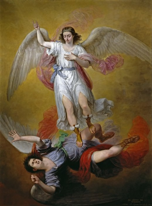 Esquivel y Suárez de Urbina, Antonio María -- La caída de Luzbel. Part 5 Prado Museum