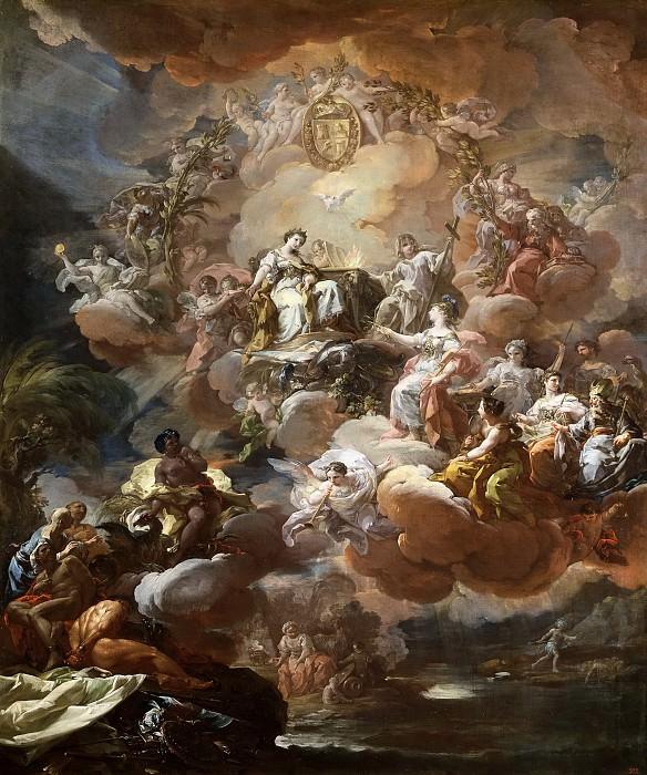 Giaquinto, Corrado -- España rinde homenaje a la Religión y a la Fe. Part 5 Prado Museum
