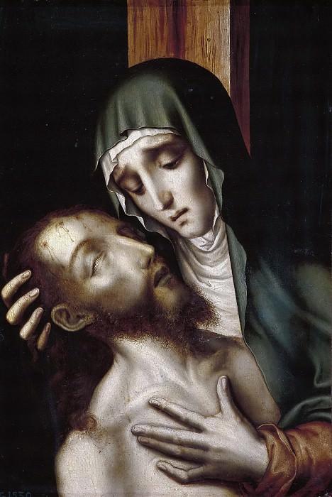 Morales, Luis de -- La Quinta Angustia: Cristo muerto en brazos de su madre. Part 5 Prado Museum