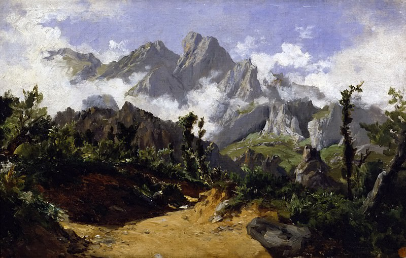 Хаэс, Карлос де -- Горный пейзаж. часть 5 Музей Прадо
