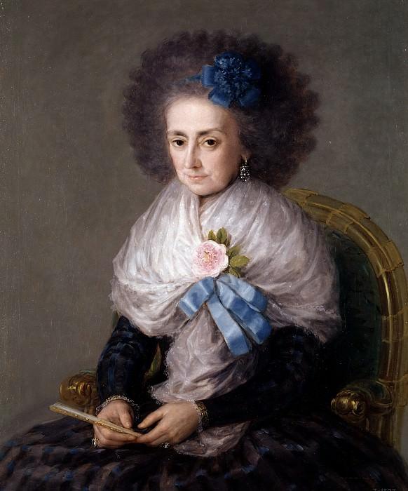 Гойя и Лусиентес, Франсиско де -- Мария Антония Гонзага, вдова маркиза Вильяфранка. часть 5 Музей Прадо