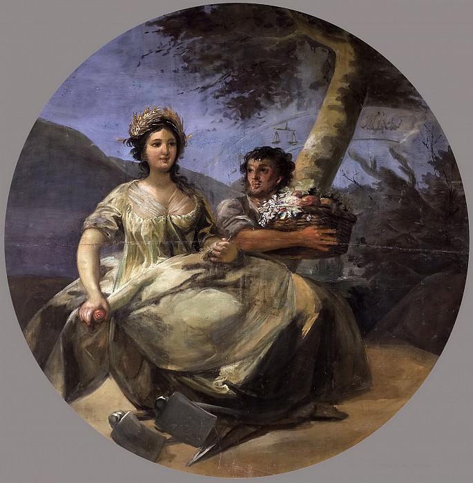 Goya y Lucientes, Francisco de -- La Agricultura. Part 5 Prado Museum