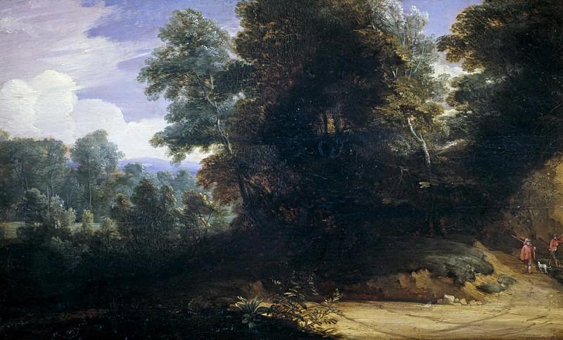Ваддер, Лодевейк де -- Пейзаж с охотниками. часть 5 Музей Прадо
