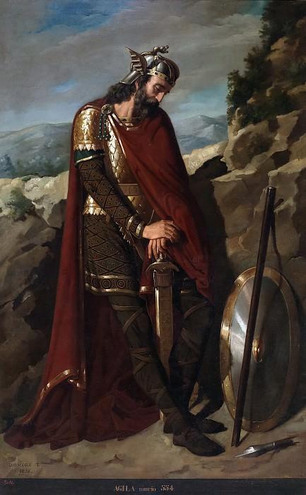 Puebla Tolín, Dióscoro Teófilo -- Agila, rey godo. Part 5 Prado Museum