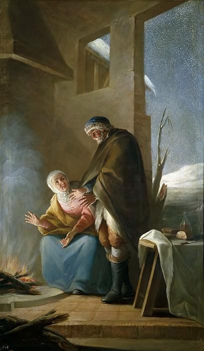 Maella, Mariano Salvador -- El invierno. Part 5 Prado Museum