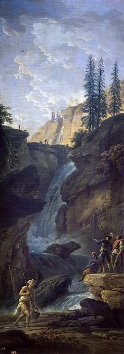 Vernet, Claude Joseph -- Paisaje con una cascada. Part 5 Prado Museum