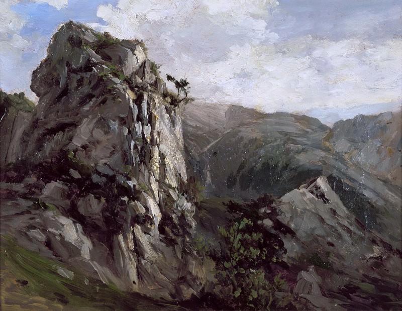 Haes, Carlos de -- Rocas (puerto de Pajares). Part 5 Prado Museum