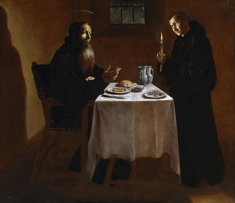 Риси де Гевара, фра Хуан Андрес -- Ужин святого Бенедикта. часть 5 Музей Прадо