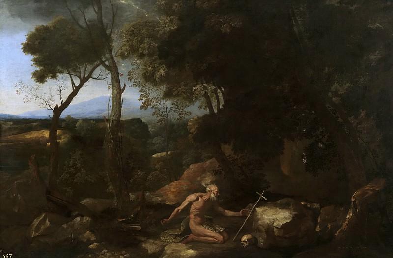 Пуссен, Никола -- Пейзаж с Павлом Пустынником. часть 5 Музей Прадо