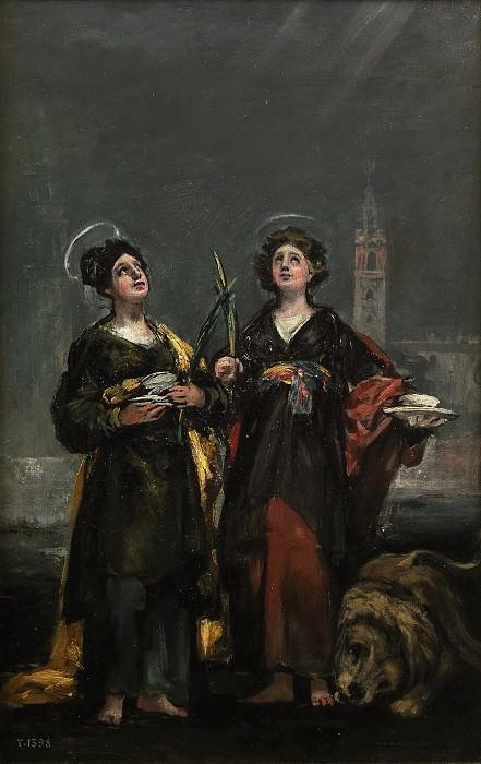 Goya y Lucientes, Francisco de -- Santa Justa y Santa Rufina. Part 5 Prado Museum
