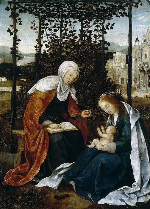 Cock, Jan Wellens de -- Santa Ana, la Virgen y el Niño. Part 5 Prado Museum