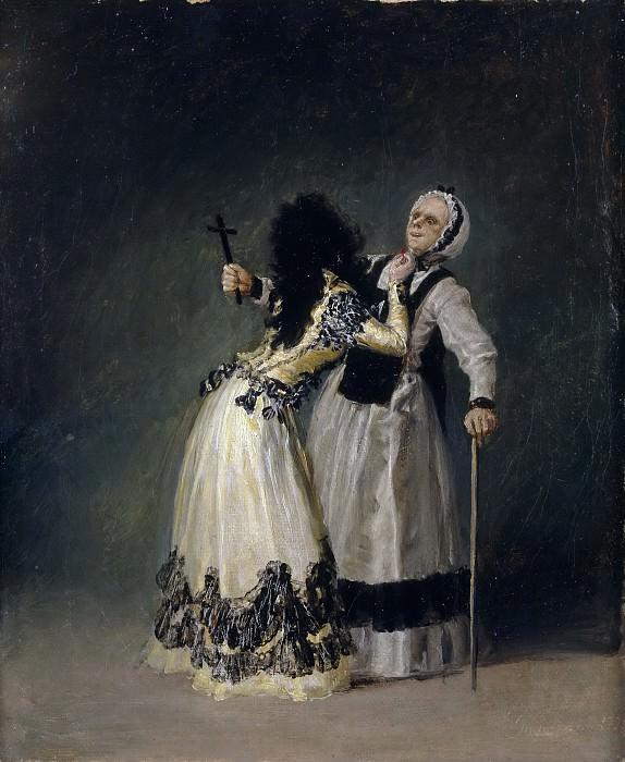 Goya y Lucientes, Francisco de -- La duquesa de Alba y su dueña. Part 5 Prado Museum