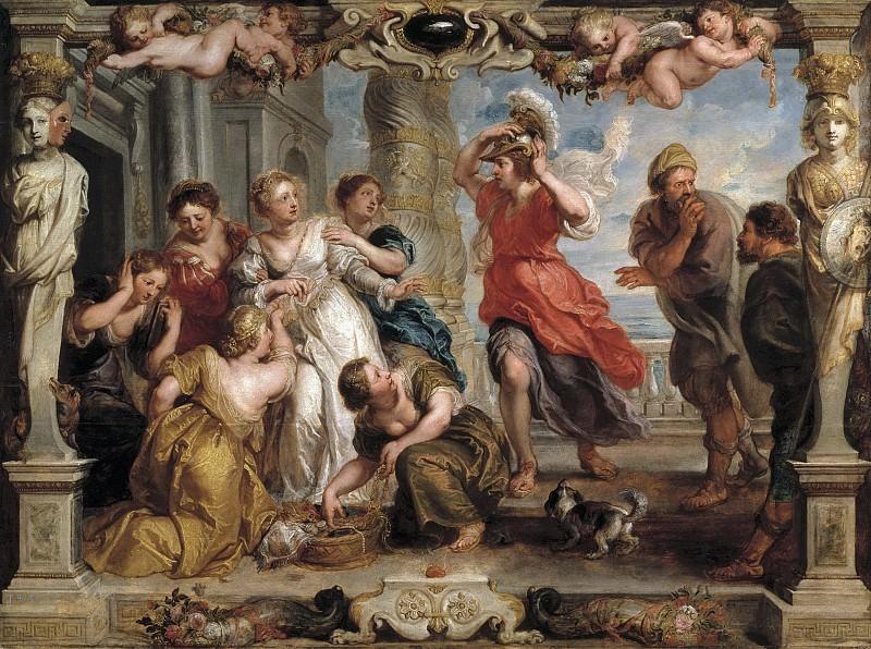 Rubens, Pedro Pablo (y taller) -- Aquiles descubierto por Ulises entre las hijas de Licomedes. Part 5 Prado Museum