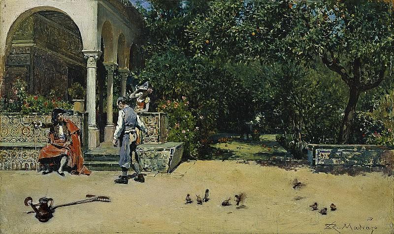 Madrazo y Garreta, Raimundo de -- El Pabellón de Carlos V en los jardines del Alcázar de Sevilla. Part 5 Prado Museum