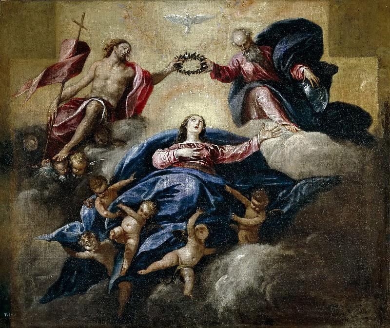 Herrera Barnuevo, Sebastián de -- La Coronación de la Virgen. Part 5 Prado Museum