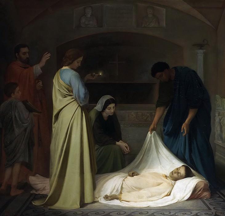Vera y Estaca, Alejo -- Entierro de San Lorenzo en las catacumbas de Roma. Part 5 Prado Museum