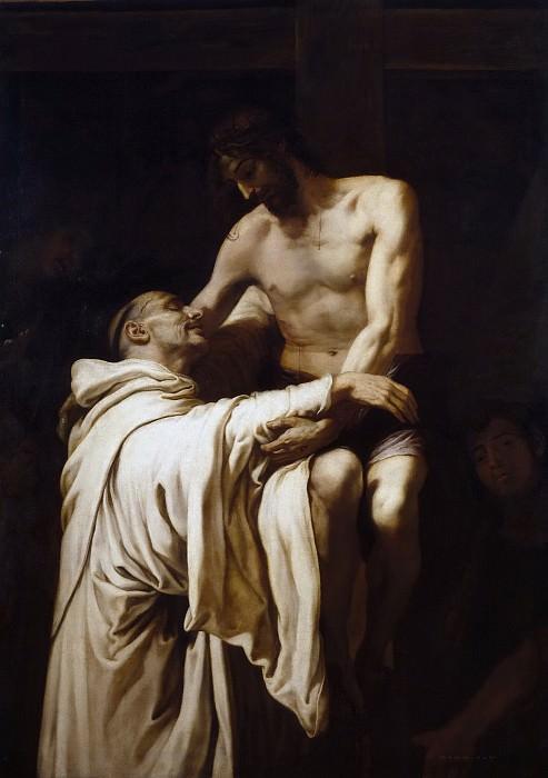 Ribalta, Francisco -- Cristo abrazando a San Bernardo. Part 5 Prado Museum