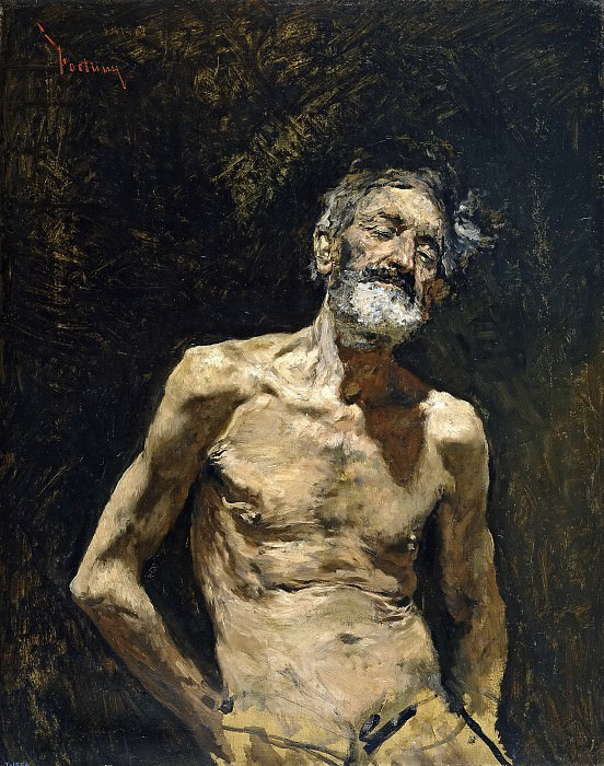 Fortuny Marsal, Mariano -- Viejo desnudo al sol. Part 5 Prado Museum