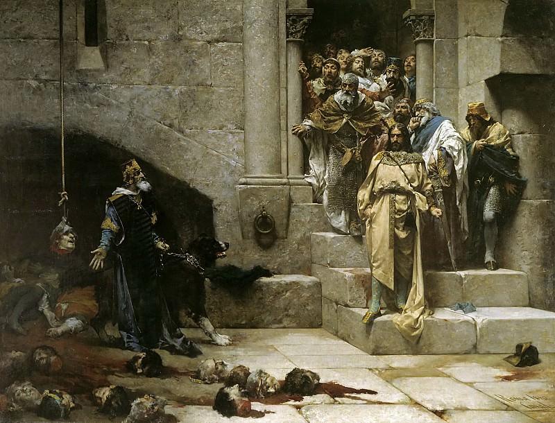 Casado del Alisal, José -- La leyenda del rey Monje, o La campana de Huesca. Part 5 Prado Museum
